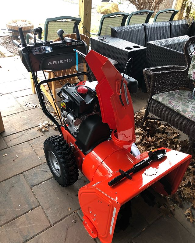 Don't worry everyone I just made sure it won't snow anymore this year.  New snow blower was delivered today.