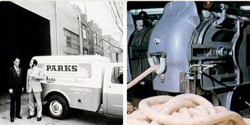 Henry Parks and Black Enterprise Magazine founder, Earl Graves - W. Hamburg Street facility. (photos circa early 1970's)
