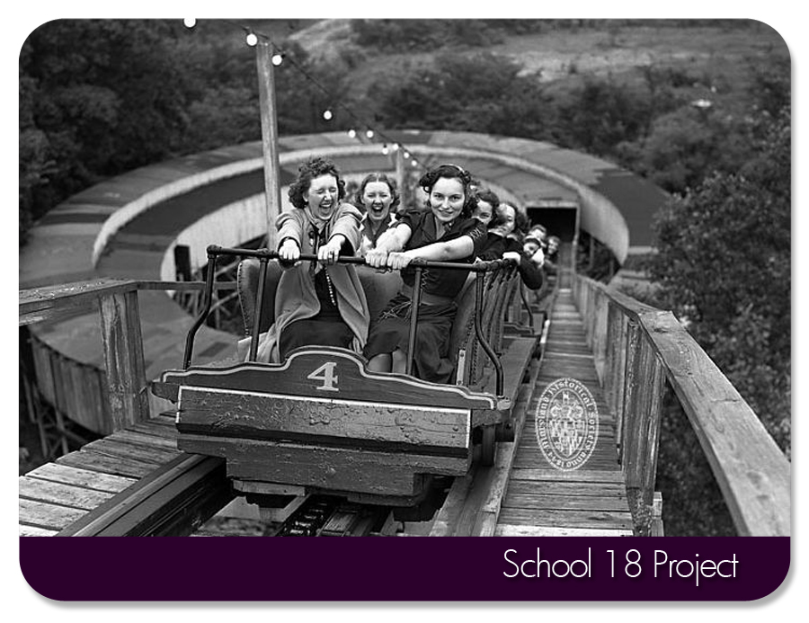 MD Historical Society-circa 1930's. Carlin's roller coaster Mountain Speedway