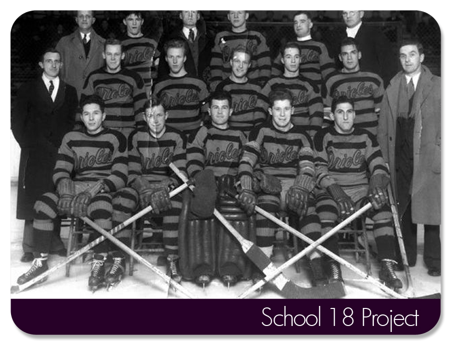 Baltimore Orioles Ice Hockey team. circa late 1930's-40's