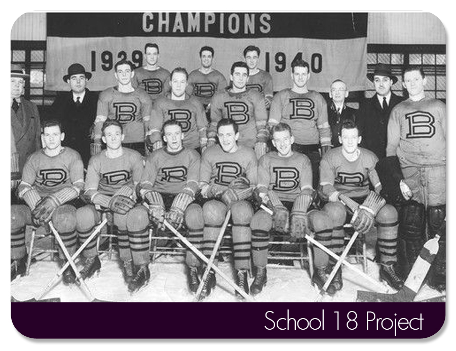 Baltimore Orioles Ice Hockey team. Circa 1940.