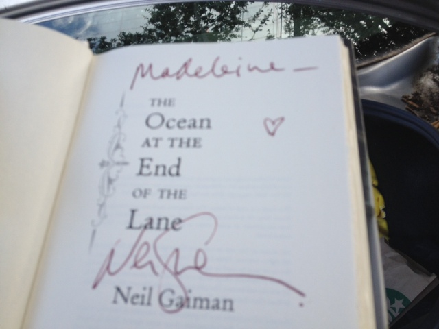 "Neil Gaiman remarked, as he signed this book for my daughter, ""Spelled right, too. It's the 'ei' that's tricky."" His youngest child, Maddy, is also a Madeleine."