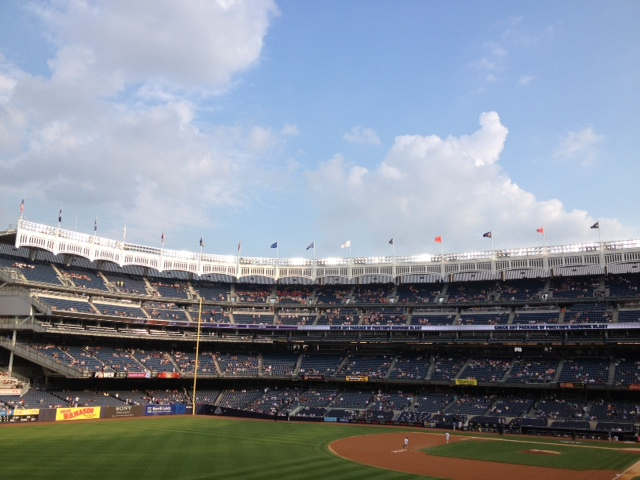 The (reconfigured) iconic porch of Yankee Stadium