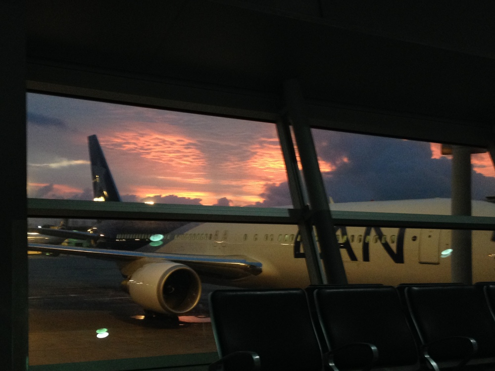 Dawn's early light at Miami International Airport