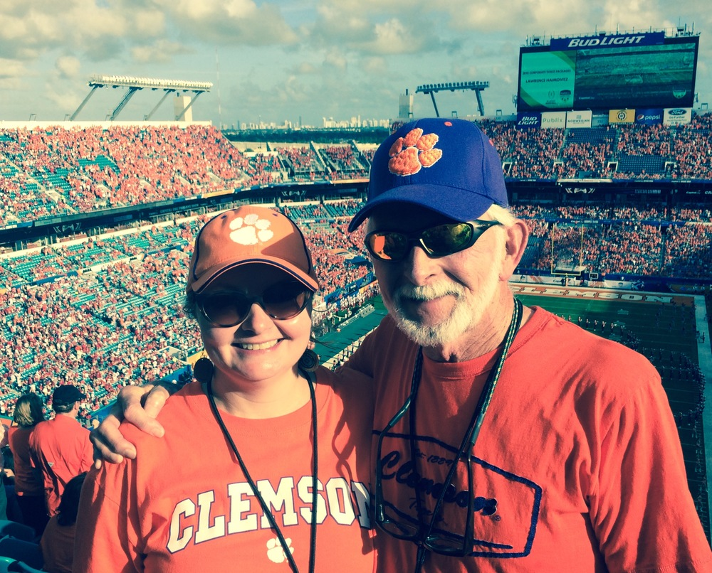 Way up high in Section 303 at the Orange Bowl.
