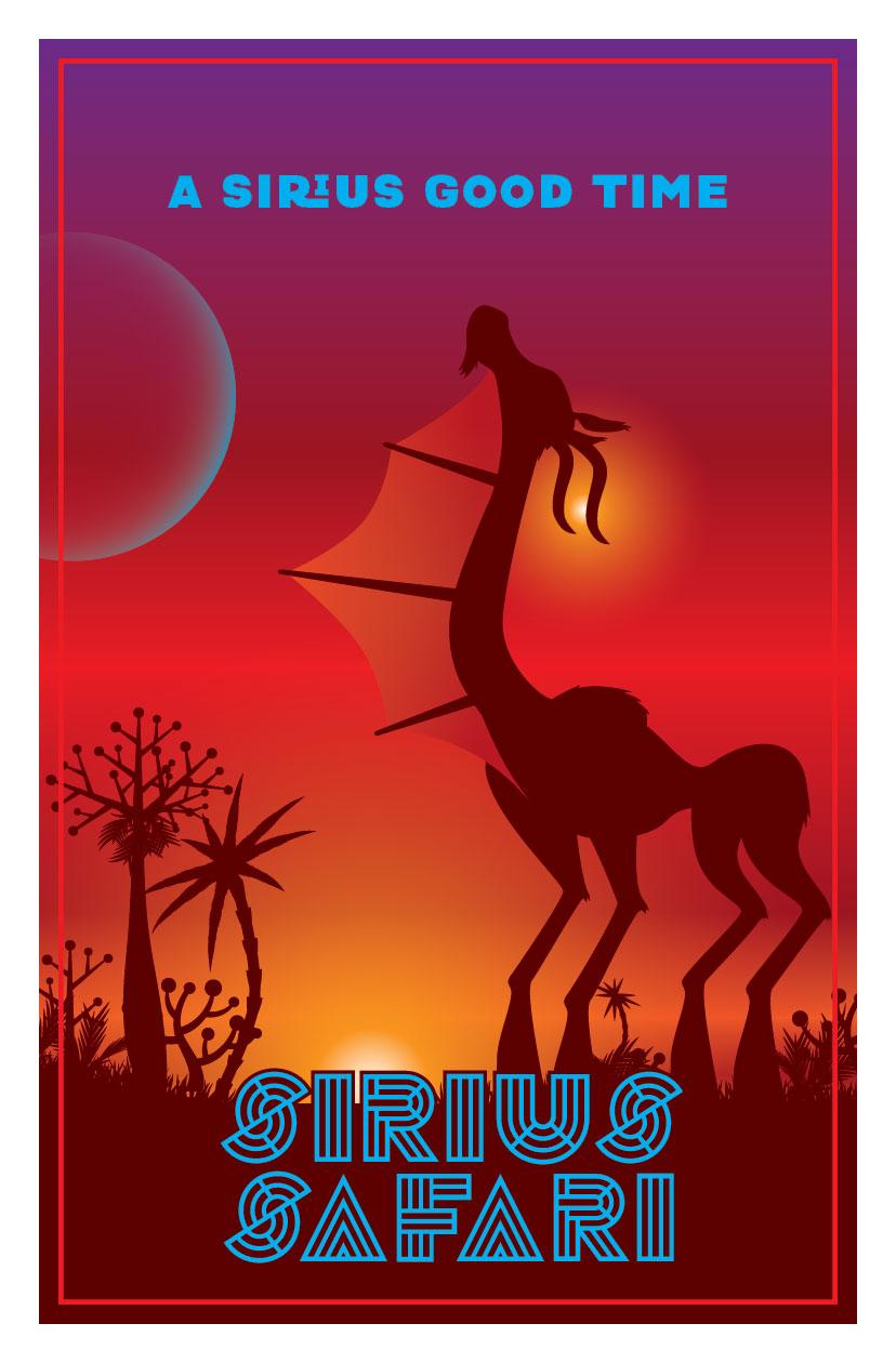 Sirius Safari | Travel Poster