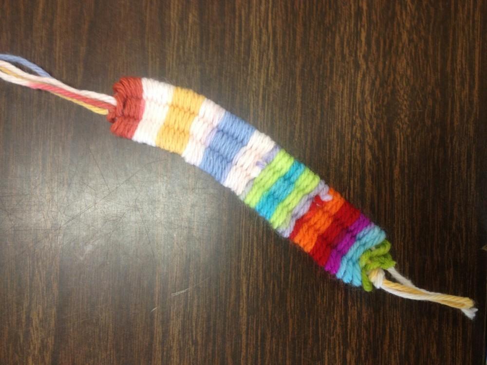 Soda Straw Yarn Bracelet