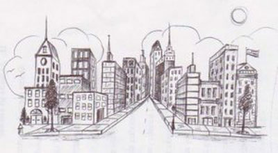 Bursting Shapes: Basic One Point Perspective for K-5
