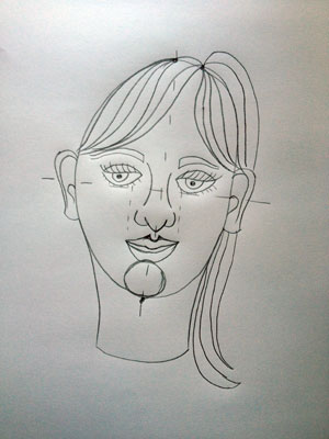 Artsmudge self portrait for kids