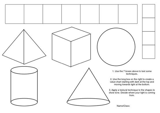 how to shade 3d shapes artsmudge. Black Bedroom Furniture Sets. Home Design Ideas