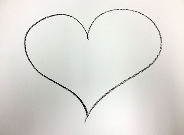 Line Art Of Heart : How to paint a jim dine heart with kids u2014 artsmudge