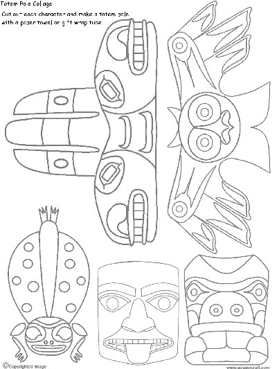 totem pole design template - how to draw a totem pole artsmudge