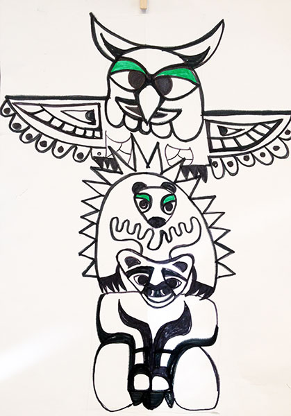 How to draw a totem pole artsmudge for Totem pole design template