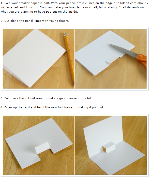 How To Make A Flower Basket Pop Up Card : How to make pop up cards imgkid the image kid