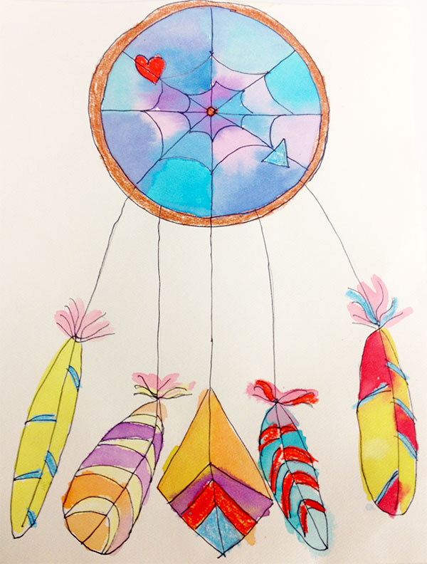 Draw Paint A Dreamcatcher ArtSmudge Beauteous Children's Dream Catcher