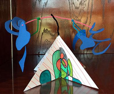 Stabile Mobile, inspired by artist Alexander Calder
