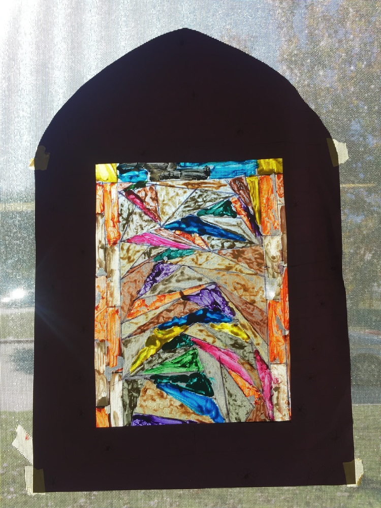 The Art Of Stained Glass With Plastic Sheets Paint