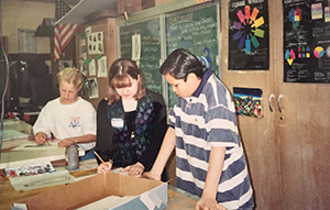 Check out those bangs! That's me as a student art teacher in 1994. Huntington HS, Long Island, New York.