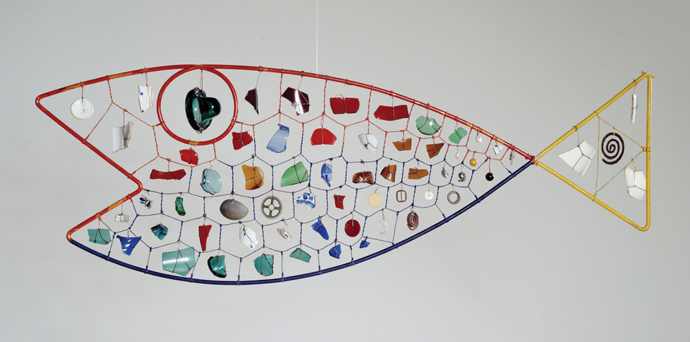 Fish,  Alexander Calder. 1944.  Style: Kinetic Art.  Genre: Sculpture.