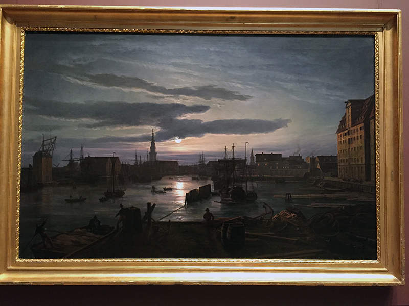Copenhagen Harbor by Moonlight, 1846