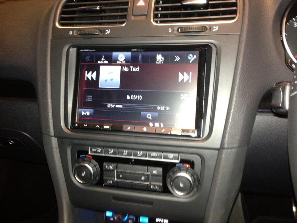 New Alpine 8 inch in VW Golf