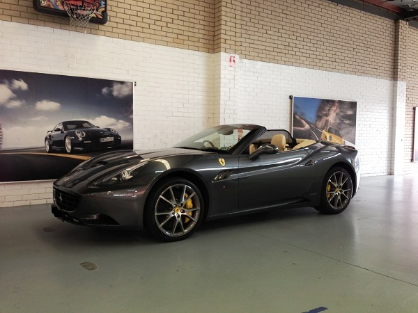 2012 Ferrari California with monitored security.