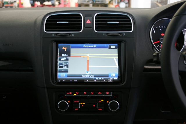 With the 8 inch screen, navigation is easier to read and requires less time with your eyes off the road.