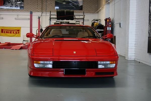 The 1997 Ferrari Testarossa V12.