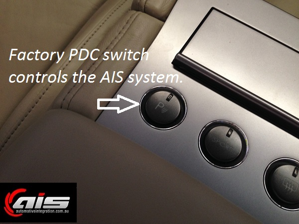 The integration of the AIS system utilizes the factory switch.