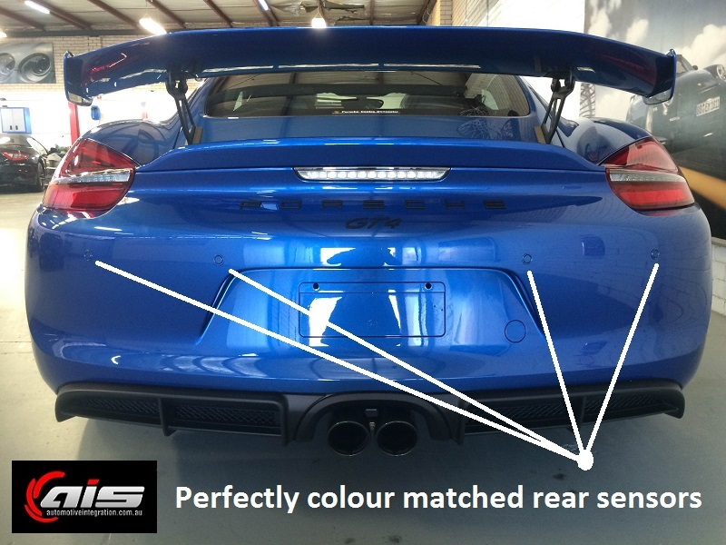 The rear sensors help with the restricted view due to the rear wing.