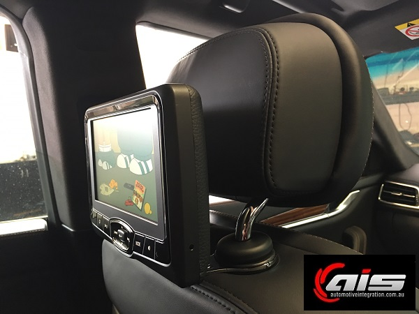 The Clean mounting system is both sturdy and hides all cables from sight. The screen will pivot down both for better viewing and to cater to the active headrest system.