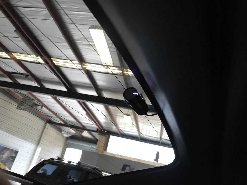 The rear camera is equally discreet. This one installed in a Tesla Model X