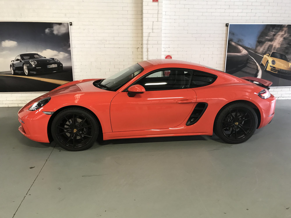 A 2018 Porsche Cayman we had the pleasure of working on.