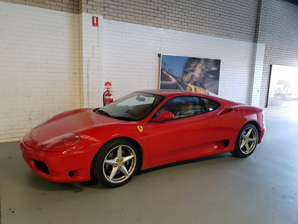 A Ferrari 360 in beautiful  Rosso Corsa