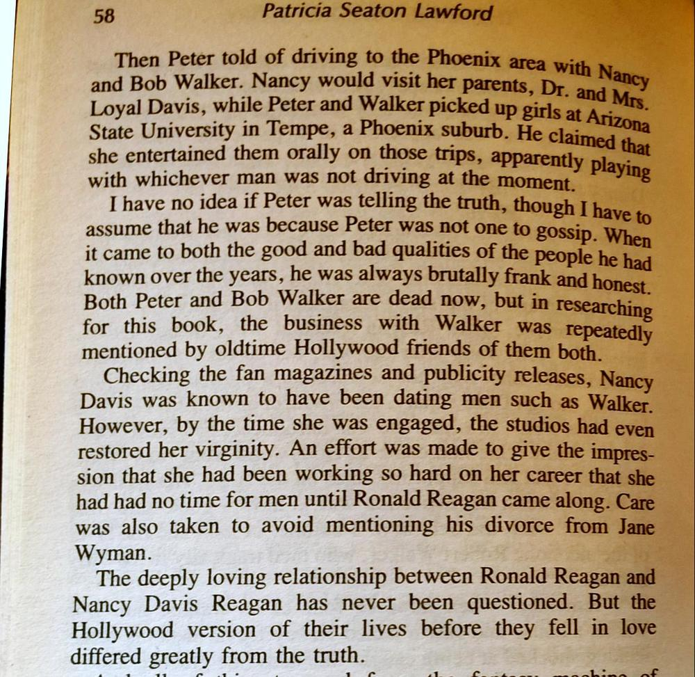 The beginning of page 58 of The Peter Lawford Story