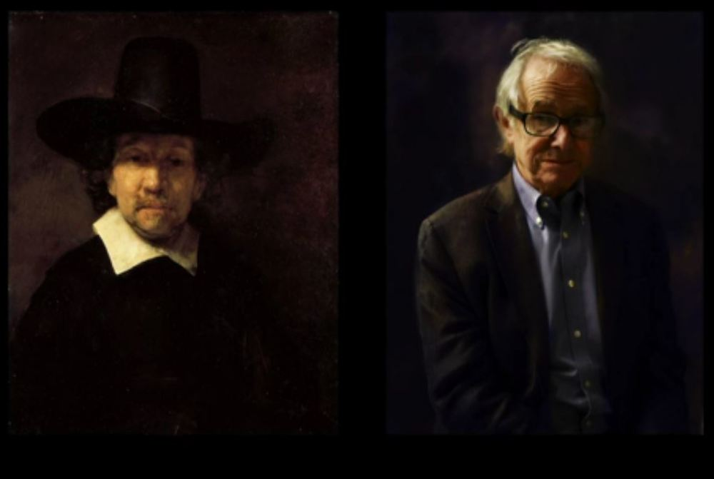 Ken Loach in the style of Rembrandt