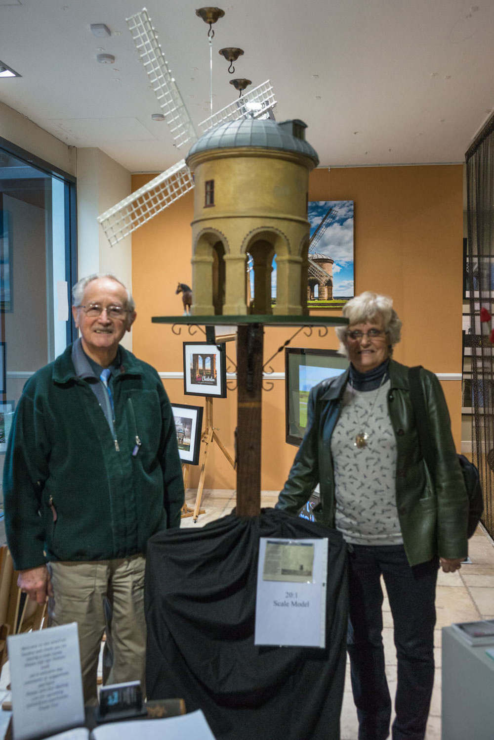 Mr & Mrs Hurley with their 20:1 scale model of Chesterton