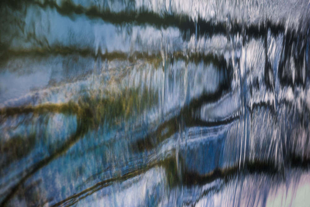 winter water abstract