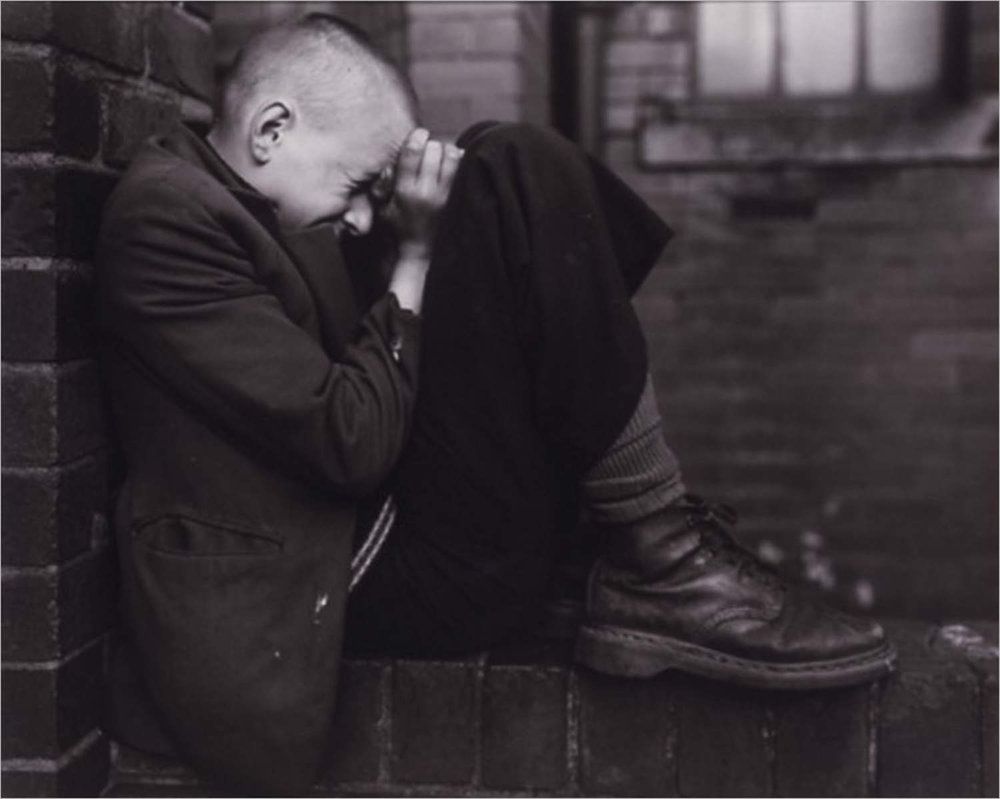 YOUTH ON WALL, JARROW, TYNESIDE 1988 -Chris Killip