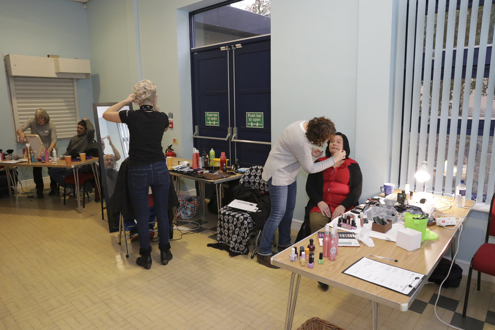 Hair and makeup team