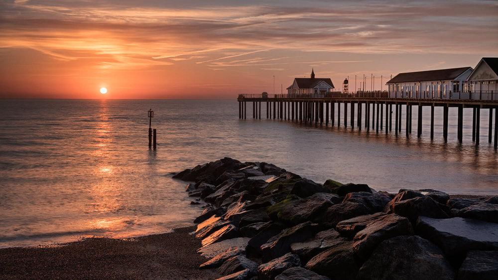 Sunrise Southwold Pier
