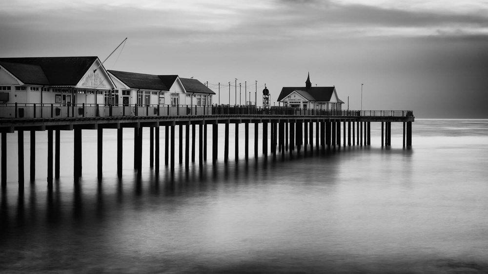 Southwold Pier Sunrise Mono