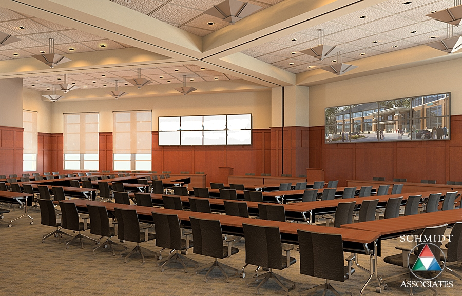 Early board room rendering. Modeled and rendered by Drew Gingrich.