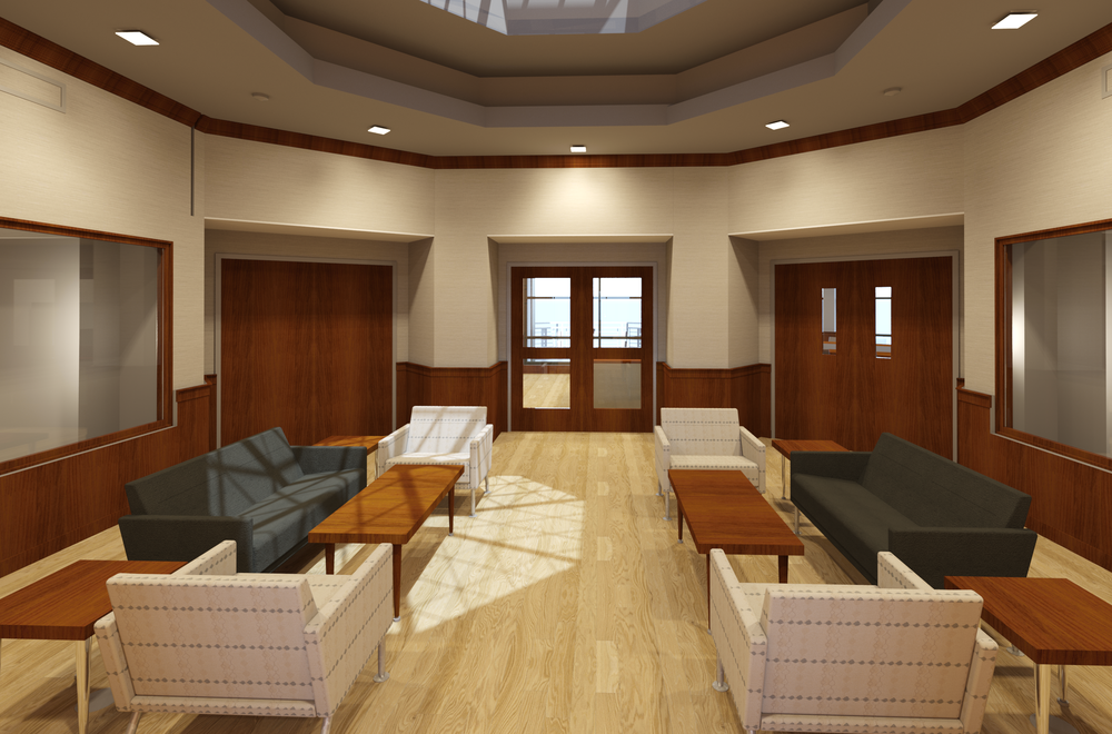 We provided multiple renderings showing different flooring options. Modeled and rendered by Drew Gingrich.