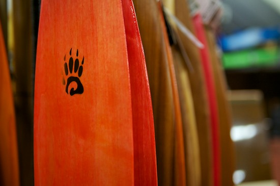 Colourful lineup of Badger Paddles