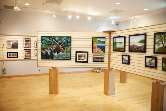 Some of the artwork, available for purchase at the Visitor Centre