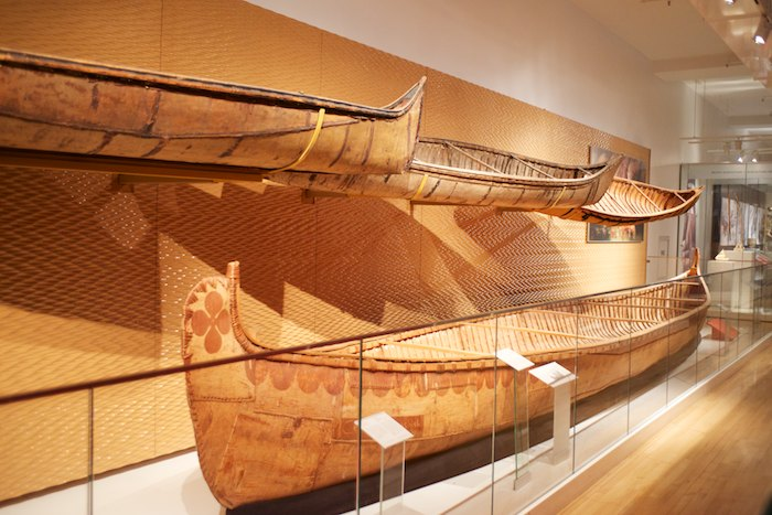 Canoes of various sizes to accommodate varying amounts of items for transportation