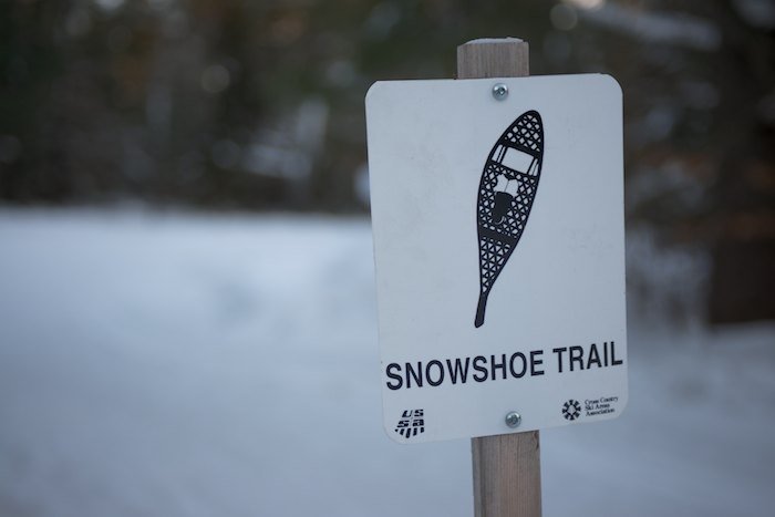 Don't forget your snowshoes, there is a dedicated snowshoeing trail as well!