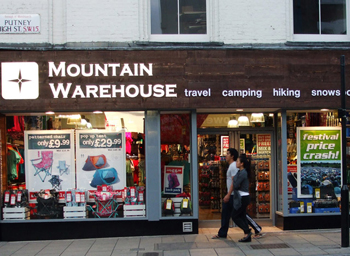 Putney, UK location. Image from Mountain Warehouse