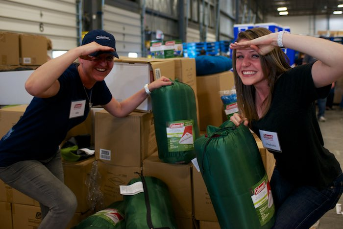 Amy and Stephanie from Coleman were not only unboxing deals, but ready to explore